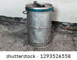old metal barrel with an... | Shutterstock . vector #1293526558