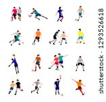 soccer players set. vector flat ... | Shutterstock .eps vector #1293526618