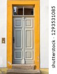 Wooden Door With Ornaments And...