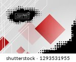 red contrast abstract... | Shutterstock .eps vector #1293531955