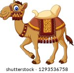 cartoon funny camel with... | Shutterstock .eps vector #1293536758