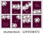 floral wedding invitation with... | Shutterstock .eps vector #1293538372