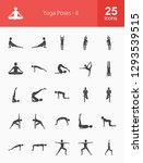 yoga poses glyph icons | Shutterstock .eps vector #1293539515
