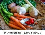 carrots  celery  turnip  chili...   Shutterstock . vector #1293540478