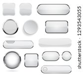 collection of 3d buttons. white ... | Shutterstock .eps vector #1293543055