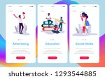 set of web page templates for... | Shutterstock .eps vector #1293544885