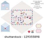 envelope designer template ... | Shutterstock .eps vector #129355898