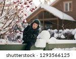 little cute boy is having fun... | Shutterstock . vector #1293566125