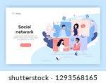 social network concept... | Shutterstock .eps vector #1293568165