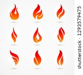 fire flames silhouettes....   Shutterstock .eps vector #1293579475