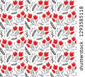 pattern of abstract hand drawn... | Shutterstock .eps vector #1293585118