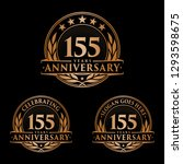 155 years anniversary set.... | Shutterstock .eps vector #1293598675