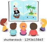 illustration of kids sitting... | Shutterstock .eps vector #1293615865