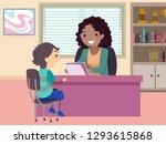 illustration of a stickman kid... | Shutterstock .eps vector #1293615868