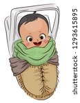 Illustration Of A Papoose Or...