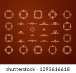 vintage decor elements and... | Shutterstock .eps vector #1293616618