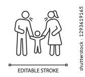 parents scolding child linear... | Shutterstock .eps vector #1293619165