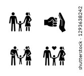 child custody glyph icons set....   Shutterstock .eps vector #1293638242