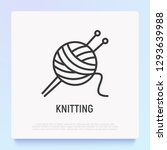 knitting thin line icon  tangle ... | Shutterstock .eps vector #1293639988