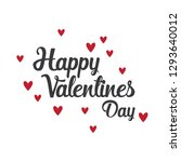 valentine day text with hearts | Shutterstock .eps vector #1293640012
