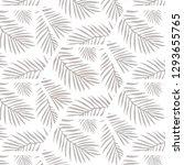 golden palm leaf illustration | Shutterstock . vector #1293655765