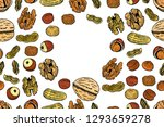 vector seamless pattern with... | Shutterstock .eps vector #1293659278