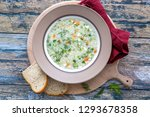 barley soup with onion | Shutterstock . vector #1293678358