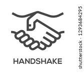 handshake vector line icons set.... | Shutterstock .eps vector #1293684295