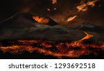 lava flowing from volcano... | Shutterstock . vector #1293692518