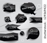 labels vector set  abstract... | Shutterstock .eps vector #129369422