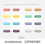 web design website elements.... | Shutterstock .eps vector #129369482