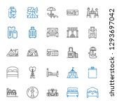 tourist icons set. collection... | Shutterstock .eps vector #1293697042