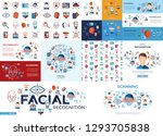 digital vector facial... | Shutterstock .eps vector #1293705838