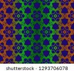 vector geometric ethnic... | Shutterstock .eps vector #1293706078