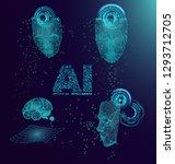 abstract technology ui... | Shutterstock .eps vector #1293712705