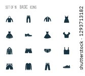 clothes icons set with hoodie ... | Shutterstock . vector #1293713182