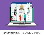networks webpage concept vector ... | Shutterstock .eps vector #1293724498