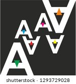 abstract pattern with letter a   Shutterstock .eps vector #1293729028