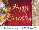 happy birthday. party. photo... | Shutterstock . vector #1293729682