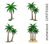 a palm tree vector set. | Shutterstock .eps vector #1293731062