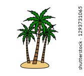 a palm tree vector set. | Shutterstock .eps vector #1293731065