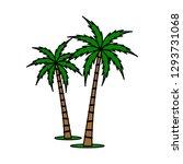 a palm tree vector set. | Shutterstock .eps vector #1293731068