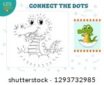 connect the dots kids game... | Shutterstock .eps vector #1293732985