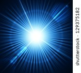 blue burst with flare. vector... | Shutterstock .eps vector #129375182