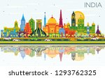 india city skyline with color... | Shutterstock .eps vector #1293762325