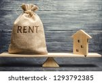 money bag with the word rent... | Shutterstock . vector #1293792385