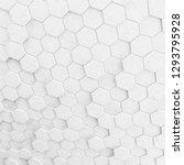 abstract hexagonal background.... | Shutterstock . vector #1293795928