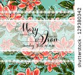 wedding invitation card with... | Shutterstock .eps vector #129380342