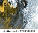 black and white with gold... | Shutterstock . vector #1293809368