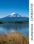 fuji mountain and kawaguchiko... | Shutterstock . vector #1293814735